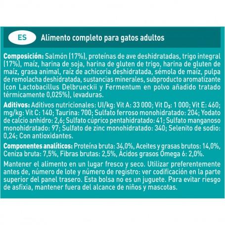 Ingredientes pienso Purina One Gato Adulto rico en Salmón y Cereales Integrales