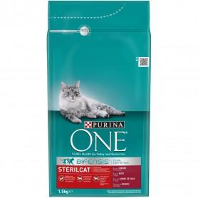 Purina One Gatos Esterilizados rico en Buey y Trigo
