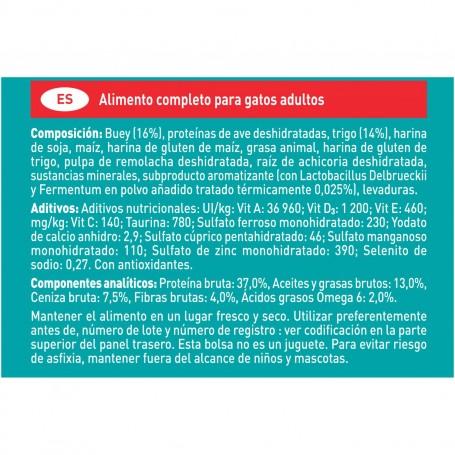 Ingredientes pienso Purina One Gatos Esterilizados rico en Buey y Trigo