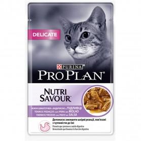 Comida húmeda Purina Pro Plan Delicate Gato Pavo (Salsa)