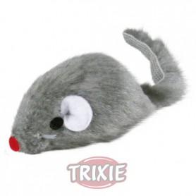 Ratón peluche con cascabel