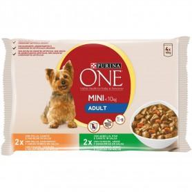 PURINA ONE Perro Adulto Pollo y Cordero en Salsa, comida húmeda para perros mini