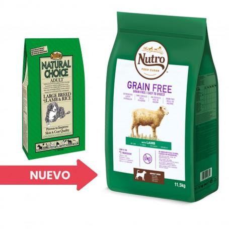Pienso para perros Nutro Grain Free Adulto Razas Grandes Cordero