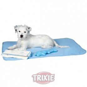 Pack Cachorros: Manta, 2 Brinquedo e Toalha Azul