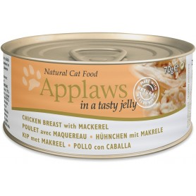 comida húmeda para gatos Applaws Cat Jelly lata pollo y caballa