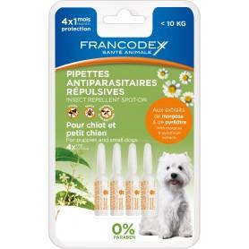Pipetas Francodex Repelentes de pulgas y garrapatas, antiparasitarios para perros