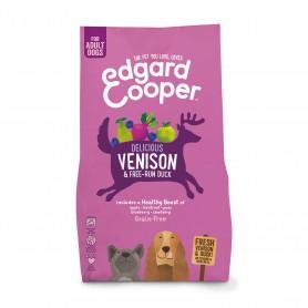 Edgard & Cooper, pienso sin cereales con venado y pato frescos para perros adultos