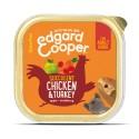 Edgard & Cooper, tarrinas sin cereales con pollo y pavo para perros adultos
