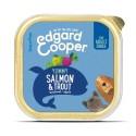 Edgard & Cooper, tarrinas sin cereales con salmón y trucha para perros adultos