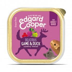 Edgard & Cooper, tarrinas sin cereales con venado y pato para perros adultos