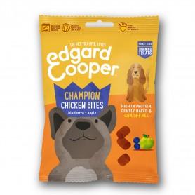 Edgard & Cooper, snacks sin cereales con pollo, arándanos y manzana