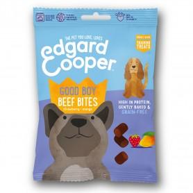 Edgard & Cooper, snacks sin cereales con vacuno, fresa y mango