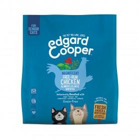 Edgard & Cooper, pienso sin cereales con pollo y pescado blanco frescos para gatos senior