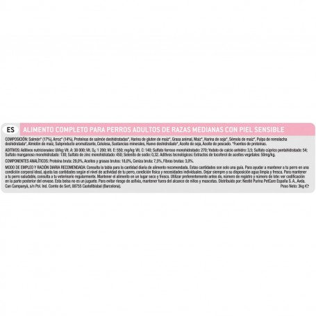 Purina Pro Plan Medium Adult Sensitive Skin