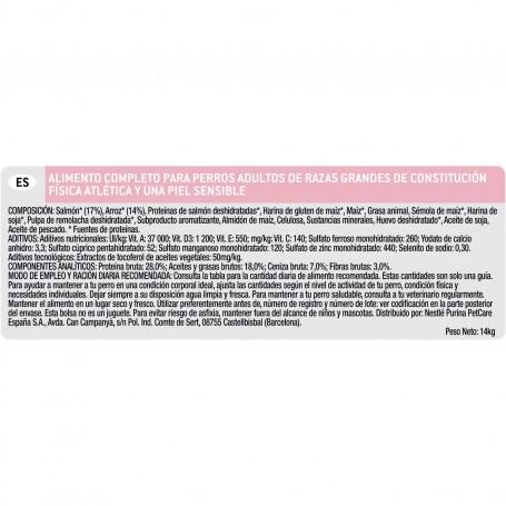 Los mejores ingredientes Purina Pro Plan Large Adult Athletic Skin